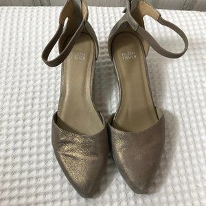 Metallic ankle strap Hutton Shoes
